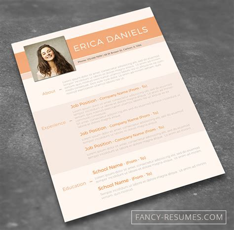 Job Resume Format In Word Download by 28 Minimal Amp Creative Resume Templates Psd Word Amp Ai