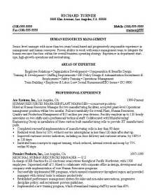 example resume for human resource generalist 3