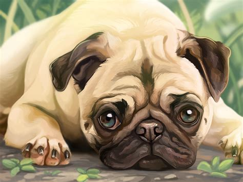 pug painting pug painting by dawnfrost on deviantart