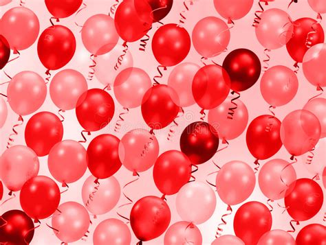 pink  red party balloons stock illustration