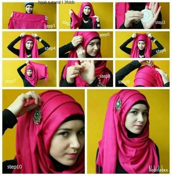 tutorial jilbab nabiilabee how to wear a hijab fashionably 12 tricks headscarf