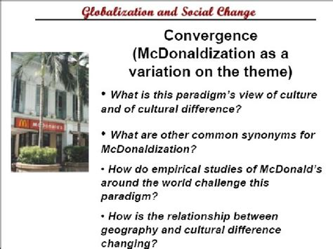 Mcdonaldization Essay Questions by Mcdonaldization Thesis Ritzer Mfacourses887 Web Fc2
