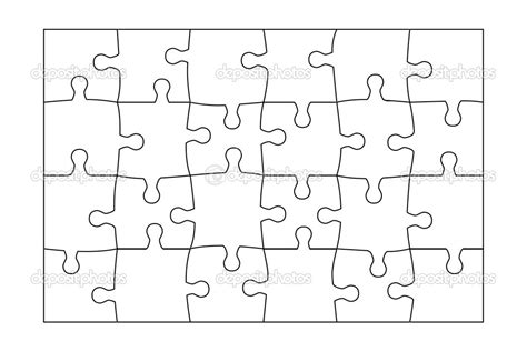 puzzle template 20 pieces best photos of 20 jigsaw puzzle template blank