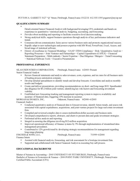 Best Financial Analyst Resume Example   RecentResumes.com