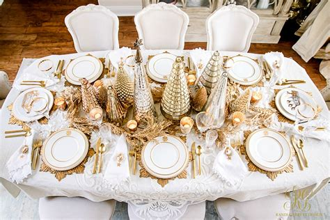 best place to get christmas table gold table scape randi garrett design