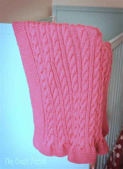 the knitting patch the craft patch cable knit baby blanket