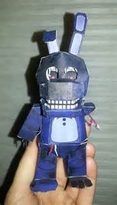 Withered bonnie papercraft with face by badandy0925 on deviantart