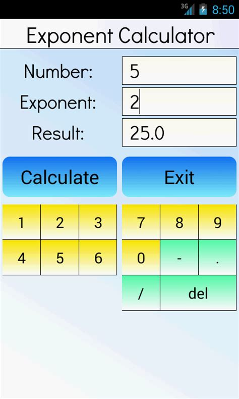 calculator exponential exponent calculator android apps on google play