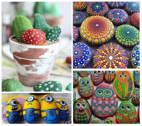 decorar con piedras comment peindre des galets toutcomment