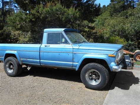 jeep with truck bed 1975 jeep j10 pickup long bed 4x4 classic jeep j10 1975