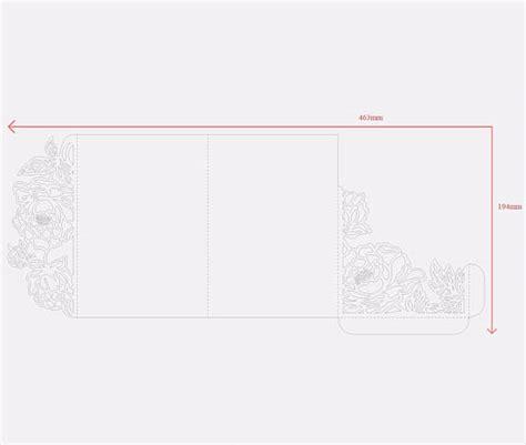 tri fold peonies 5x7 wedding invitation pocket envelope