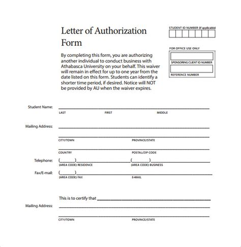 Release Authorization Letter Ups Sle Letter Of Authorization Form Exle 8