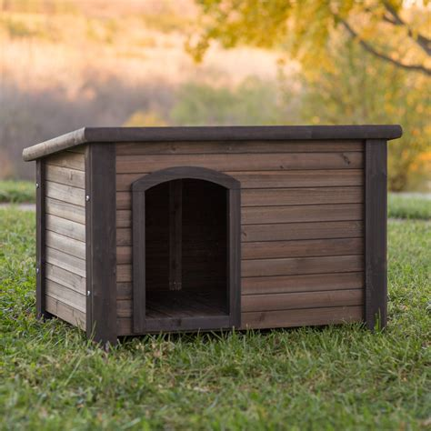 boomer george log cabin dog house  stainless steel bowls dog houses  hayneedle