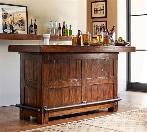 rustic bar rustic ultimate bar large pottery barn