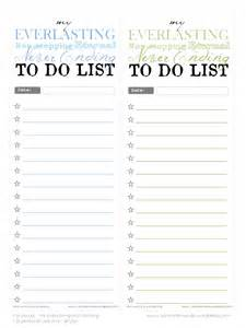 free printable to do lists my everything amp nothing