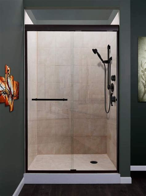 Wide Shower Doors by Miseno Msdc4876 Orb Rubbed Bronze Foggia 76 Quot High X 48