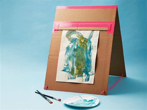 cardboard box crafts for how to make a portable easel