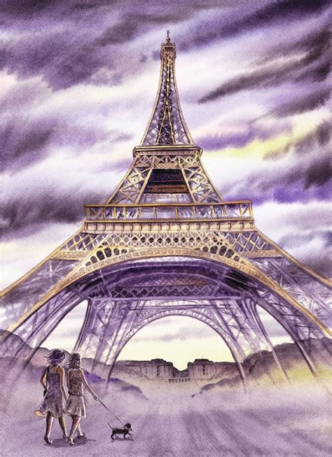 irina sztukowski eiffel tower walking the in