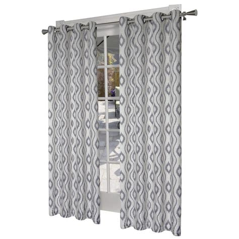 what does light filtering curtain design decor 84 in black pearl polyester grommet light