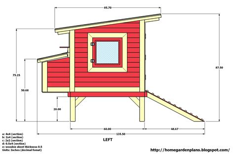 home garden plans m300 74 quot x135 quot x88 quot chicken coop