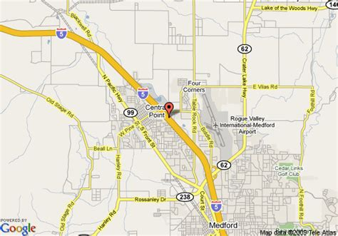 where is central point oregon on the map map of inn express hotel suites medford central