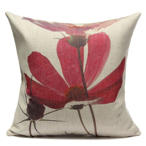Coconut Pillow by Style Cotton Linen Coconut Tree Lotus Cycads
