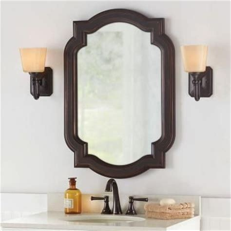 dwelling cents bathroom mirror frame home decorators collection 22 in w x 32 in l framed fog