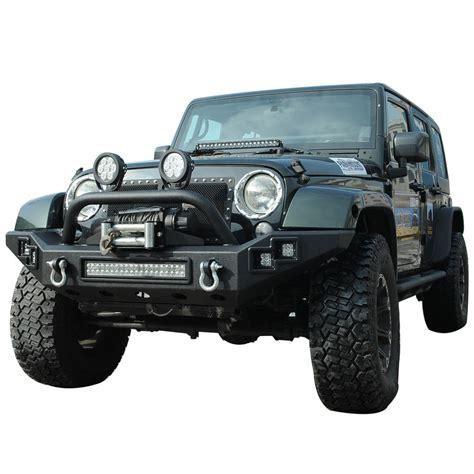jeep wrangler front 07 14 jeep wrangler jk led front bumper