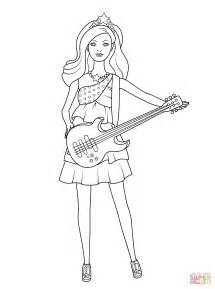 Barbie Pop Star Keira Coloring Page Free Printable Popstar Coloring Pages