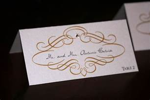gold scroll wedding place cards chic shab design studio inc