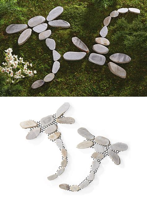 Decorative Garden Stepping Stones by Set Of 2 Decorative Dragonfly Outdoor Garden Yard Stepping
