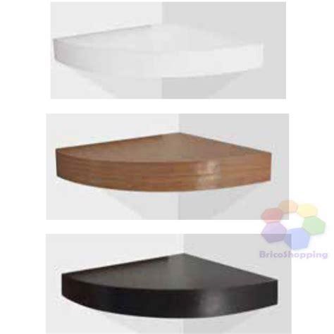 mensole ad angolo mensola ad angolo cm 30x30x3 8 bianco nero rovere legno