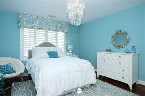 aqua bedroom ocean inspired aqua girls bedroom transitional