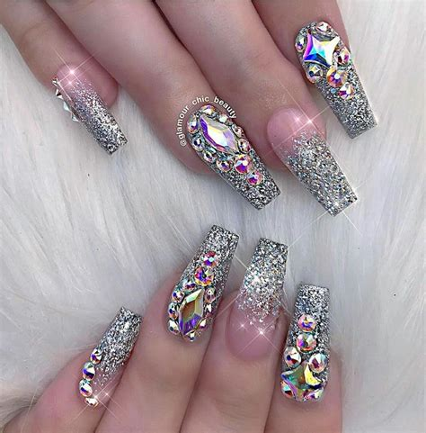Nail Nails by 13 Inspirational Glitter Nail Designs Black White Nation