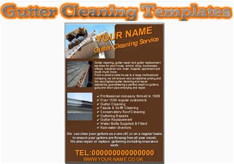 business cards and flyers templates gutter cleaning leaflets flyer business cards business