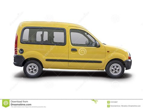 renault yellow renault kangoo express 2010 vector illustration
