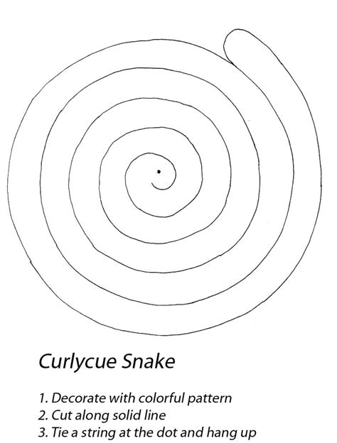 spiral snake coloring page caroline arnold s books children s projects