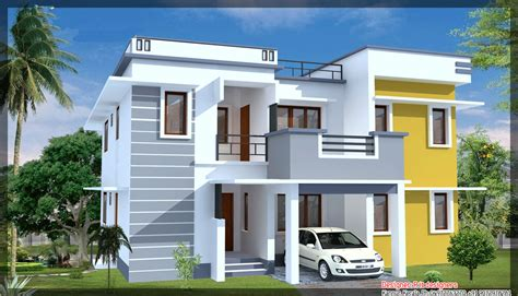 modern luxury house elevation at 1900 sq ft