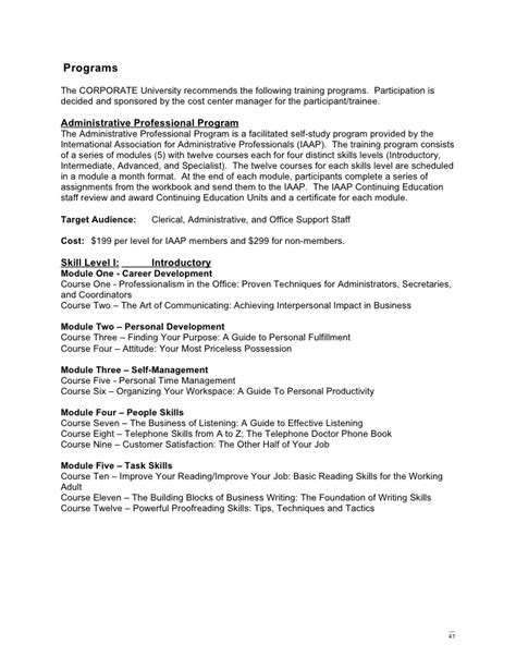 trainer resume exle administrative programs the best of 2018