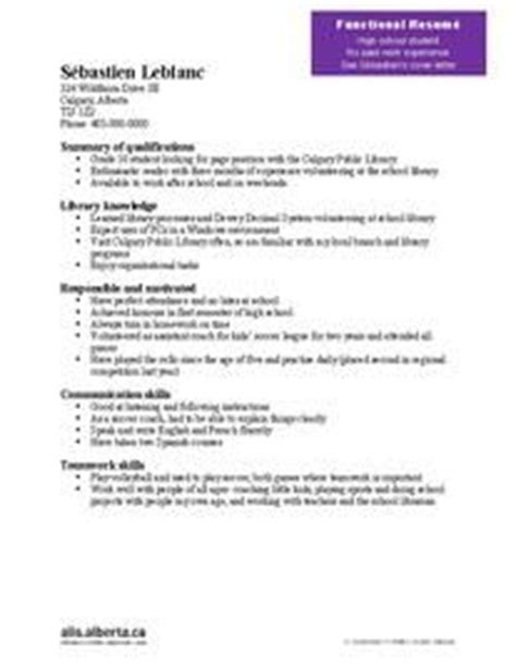 Functional Resume Sles With No Experience cover letter no experience high school cover of