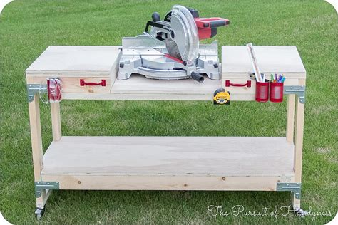 diy miter saw bench dreamitbuildit project diy miter saw stand diy done right