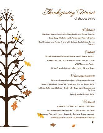 Traditional Thanksgiving Menu Thanksgiving Menus Thanksgiving Menu Template