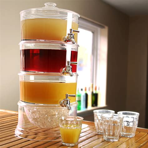 drink dispenser 3 tier drink dispenser 7 5ltr beverage dispenser juice