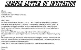 sle letter of invitation