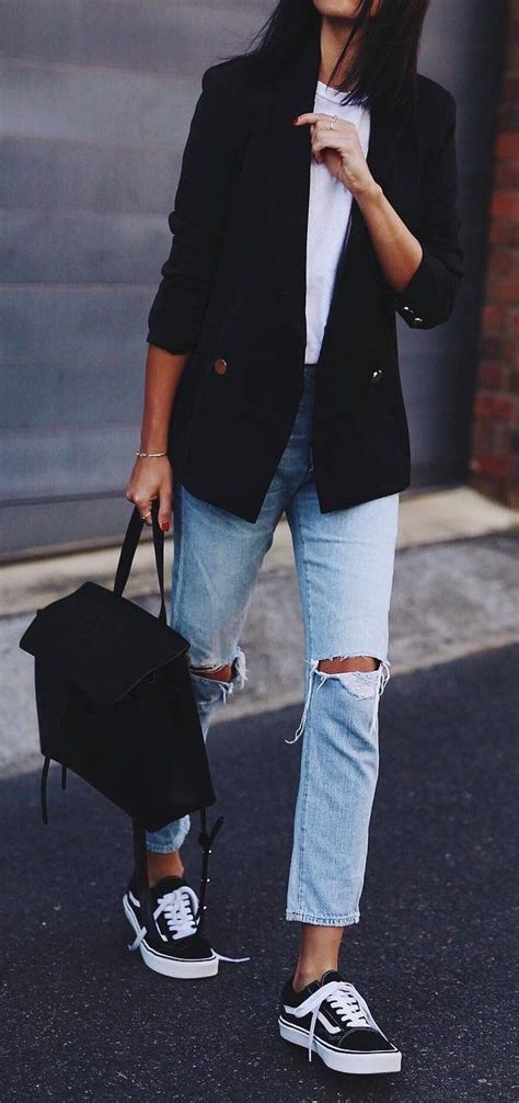 Sk 40 Black Chic Blazer 1 best 25 casual ideas on basic clothes casual looks and black blazer casual