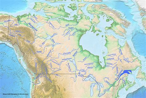 canadian map rivers list of rivers of canada
