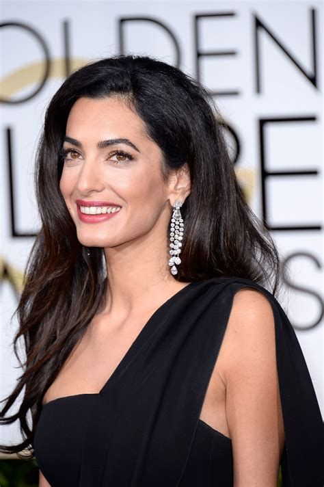 does amal wear extensions all the makeup amal clooney wore to the 2015 golden globes