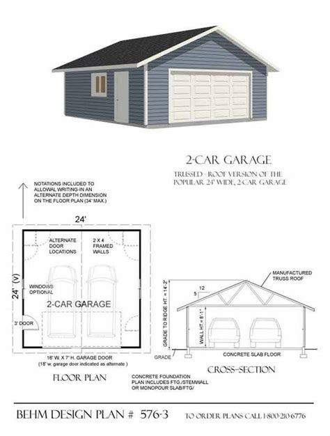 plans for building a garage 2 car garage plan 576 3 by behm design for the home