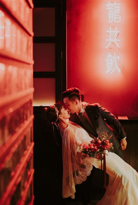 8 Weddings To Be Inspired By by An Pre Wedding Inspired By The 1980s Bridestory