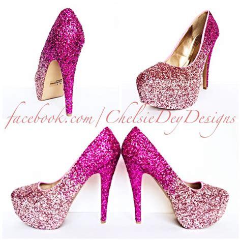 glitter pink high heels glitter high heels pink pumps light pink ombre